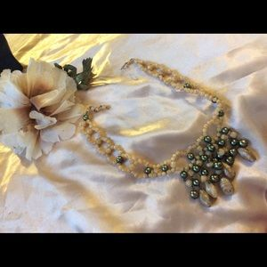 Vintage Jewelry - Vintage 1940 Carmen Miranda Pearl Bead Necklace